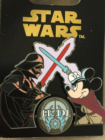 Star Wars Mickey Jedi vs. Darth Vader Spinner Pin