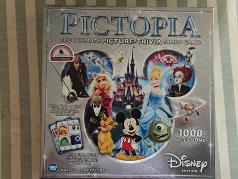 Disney Pictopia Trivia Family Board Game