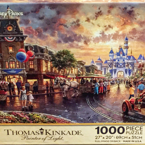 Disneyland 60th Anniversary Thomas Kinkade 1000 piece Puzzle [free ship]