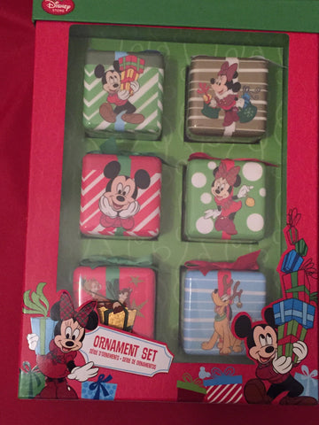 Mickey & Friends Disney Store Ornament Set