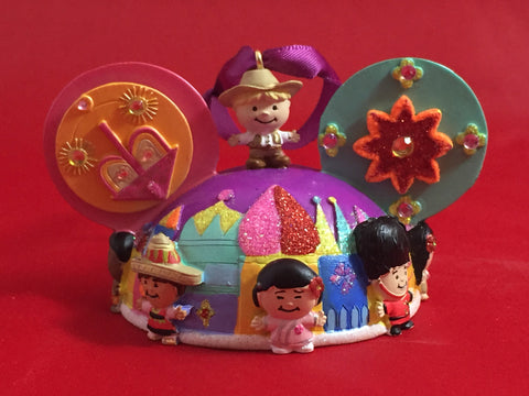 """Its a small world"" Ears Disney Parks Ornament"