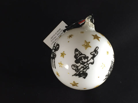 Walt Disney World 4 Parks Logo Icons White Orb Holiday Ornament