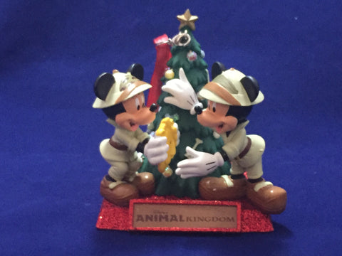 Animal Kingdom Mickey & Minnie Holiday Figure Ornament
