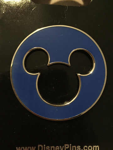 Blue Mickey Cut Out Pin