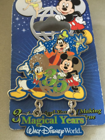 35 Magical Years Mickey, Donald, Goofy Celebrate Pin