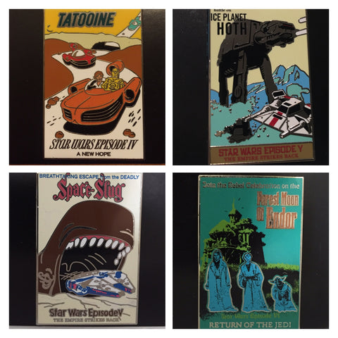 Star Wars Crossover Disney Attractions Poster Set of 4 [free ship]