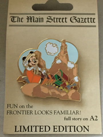 Main Street Gazette- Mickey Rides Big Thunder Mountain Railroad Limited Edition Pin