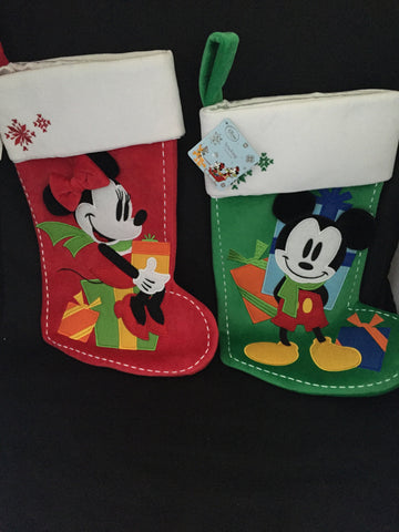 Mickey & Minnie Holiday Stockings [free ship]