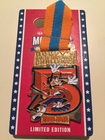 Goofy's Race & Half Challenge 5 Year Limited Edition Pin