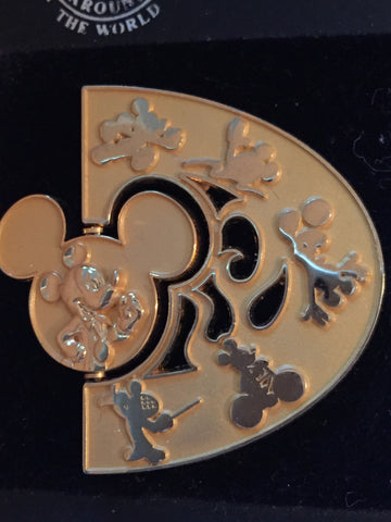 Gold D Spinner Summer of Champions Pin