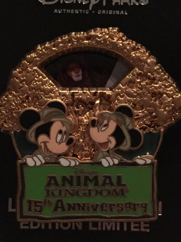 Animal Kingdom 15th Anniversary Limited Edition Pin