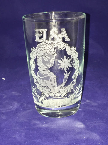 Elsa Frozen Walt Disney World Juice Glass (Arribas Bros)