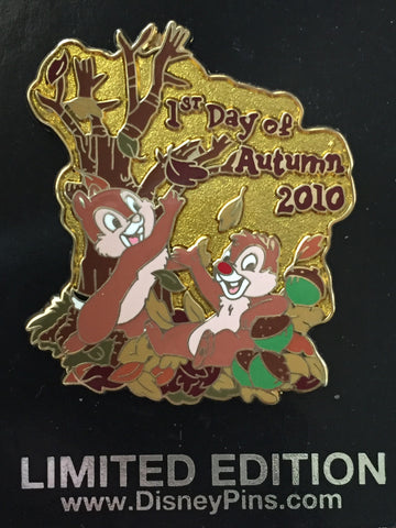 Chip N Dale 1st Day of Autumn 2010 Limited Edition Pin