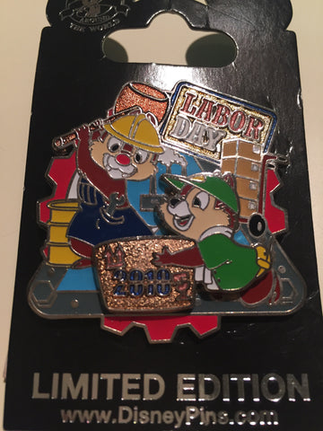 Labor Day 2010 Chip n Dale Limited Edition Pin