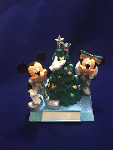 Epcot Mickey & Minnie Holiday Figure Ornament