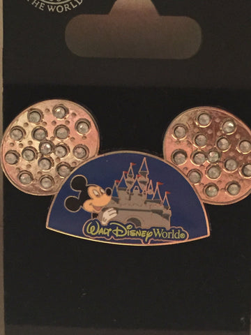 Walt Disney World Mickey Jeweled Ears Pin