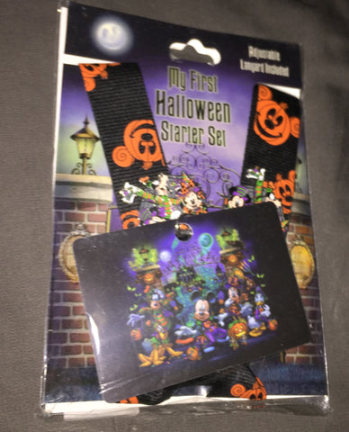 Halloween Starter Pin Set - Disney Parks (includes lanyard, 2 pins, lanyard card)