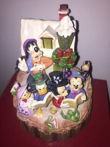 Holiday Harmony Mickey & Friends Carved from the Heart Jim Shore Figure