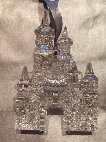 Disneyland 60th Anniversary Clear Castle Ornament