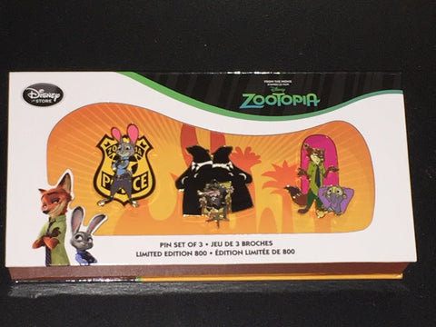 Zootopia Limited Edition 800 Pin Set (free ship)