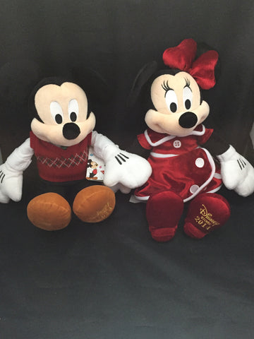 Holiday Mickey and Minnie 2014 Disney Store Plush