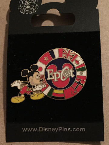 Epcot World Showcase Mickey World Flags Pin