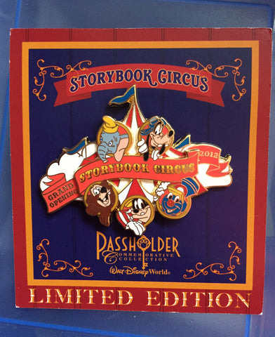 Storybook Circus Grand Opening 2012 Limited Edition Pin