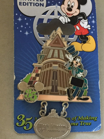 35 Magical Years Goofy at Haunted Mansion Entrance Limited Edition Pin