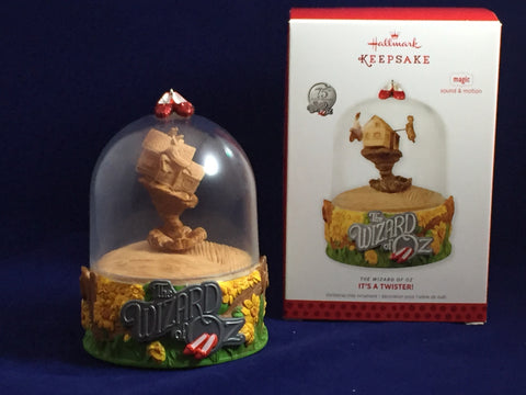 "Wizard of Oz ""It's a Twister"" 2013 Hallmark Ornament"