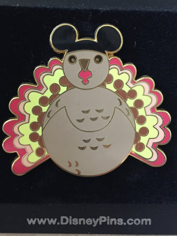 Turkey with Mickey Ears Pin