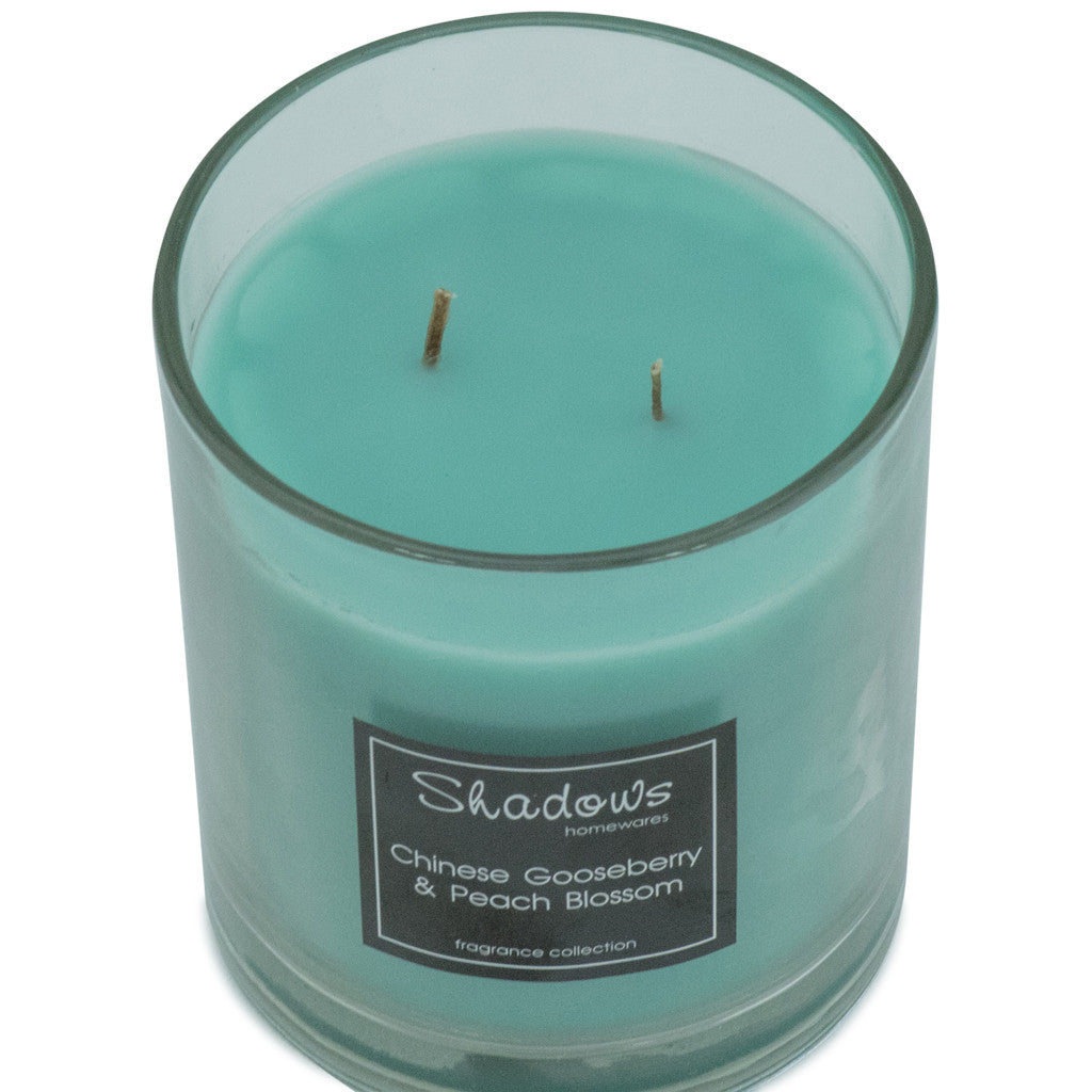 2-Wick Jar Gooseberry & Peach Scented Candle - Wax Candles - The Bowery - 2