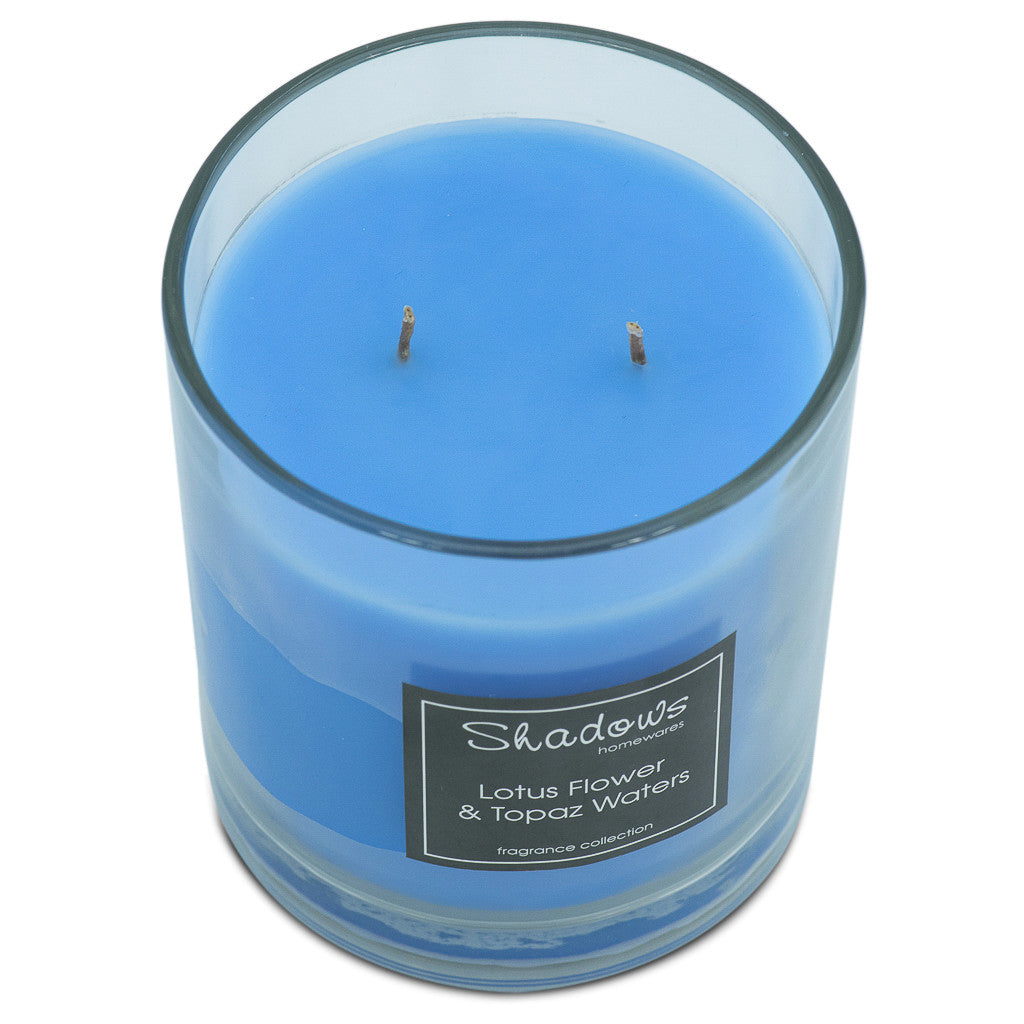 2-Wick Jar Lotus Flower & Topaz Water Scented Candle - Wax Candles - The Bowery - 3