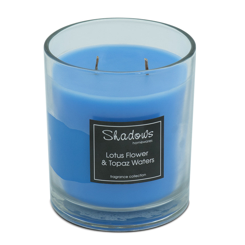 2-Wick Jar Lotus Flower & Topaz Water Scented Candle - Wax Candles - The Bowery - 2