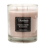 2-wick Jar Creamy Vanilla & Coconut Scented Candle - Wax Candles - The Bowery