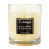 2-Wick Jar French Vanilla & Jasmine Tea Scented Candle - Wax Candles - The Bowery