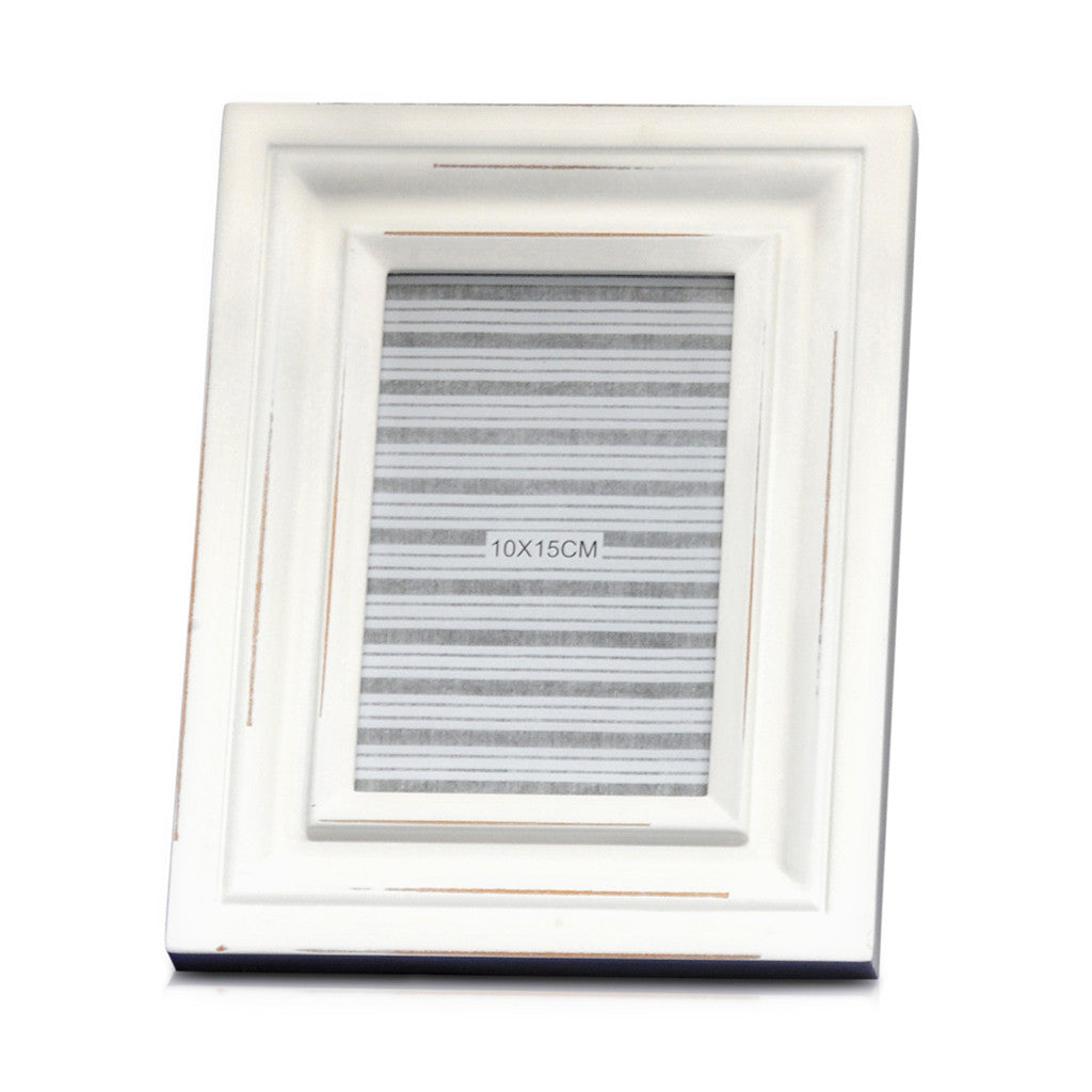 Ant White Vintage MDF Photo Frame,18cm x 23cm - Photo Frame - The Bowery - 1