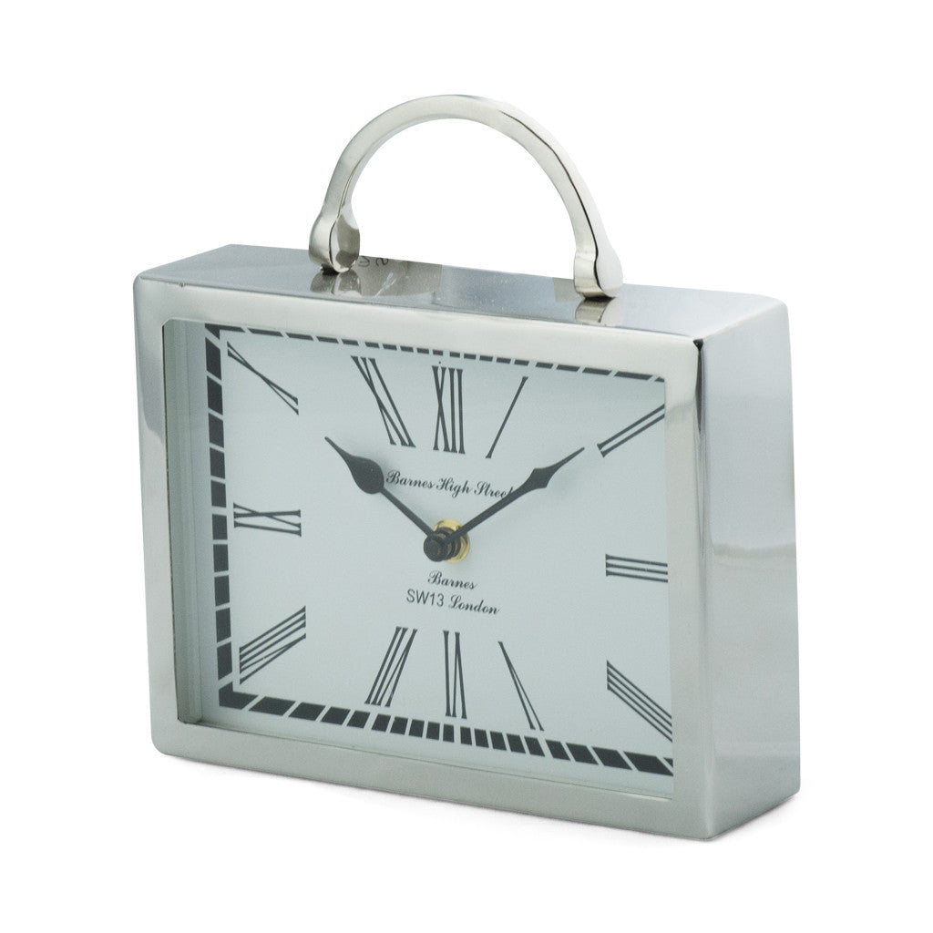 Beale Aluminium Rectangular Table Clock - Table Clocks - The Bowery - 3