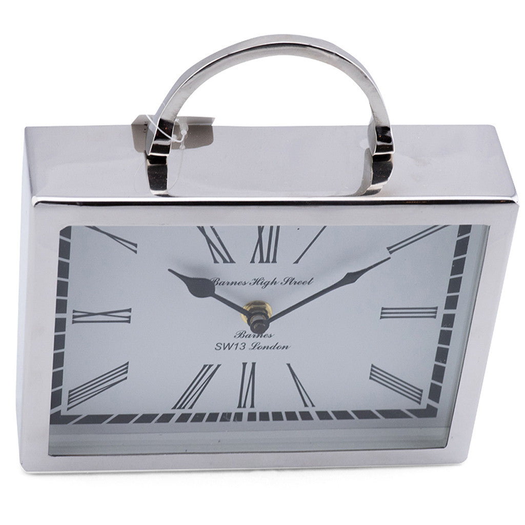 Beale Aluminium Rectangular Table Clock - Table Clocks - The Bowery - 2