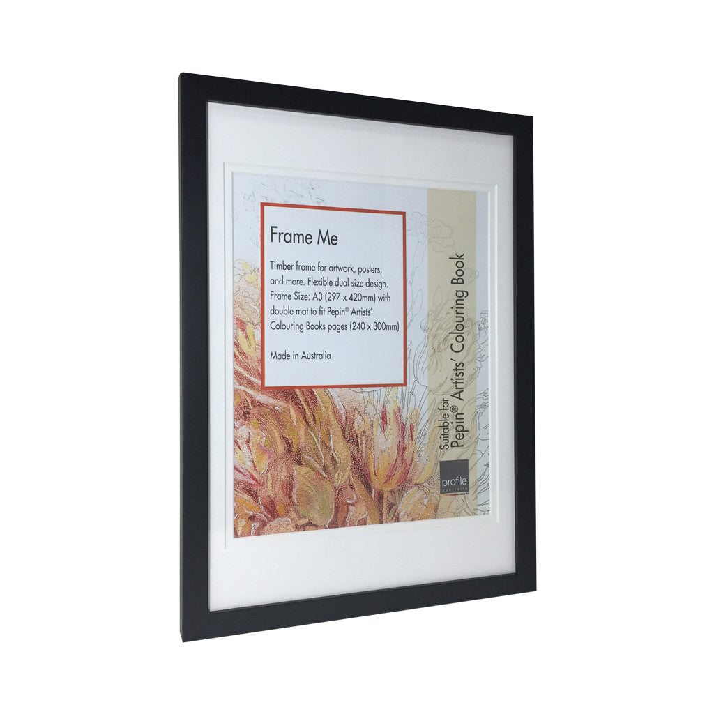 Black Colouring Book Frame , A3 - Photo Frame - The Bowery