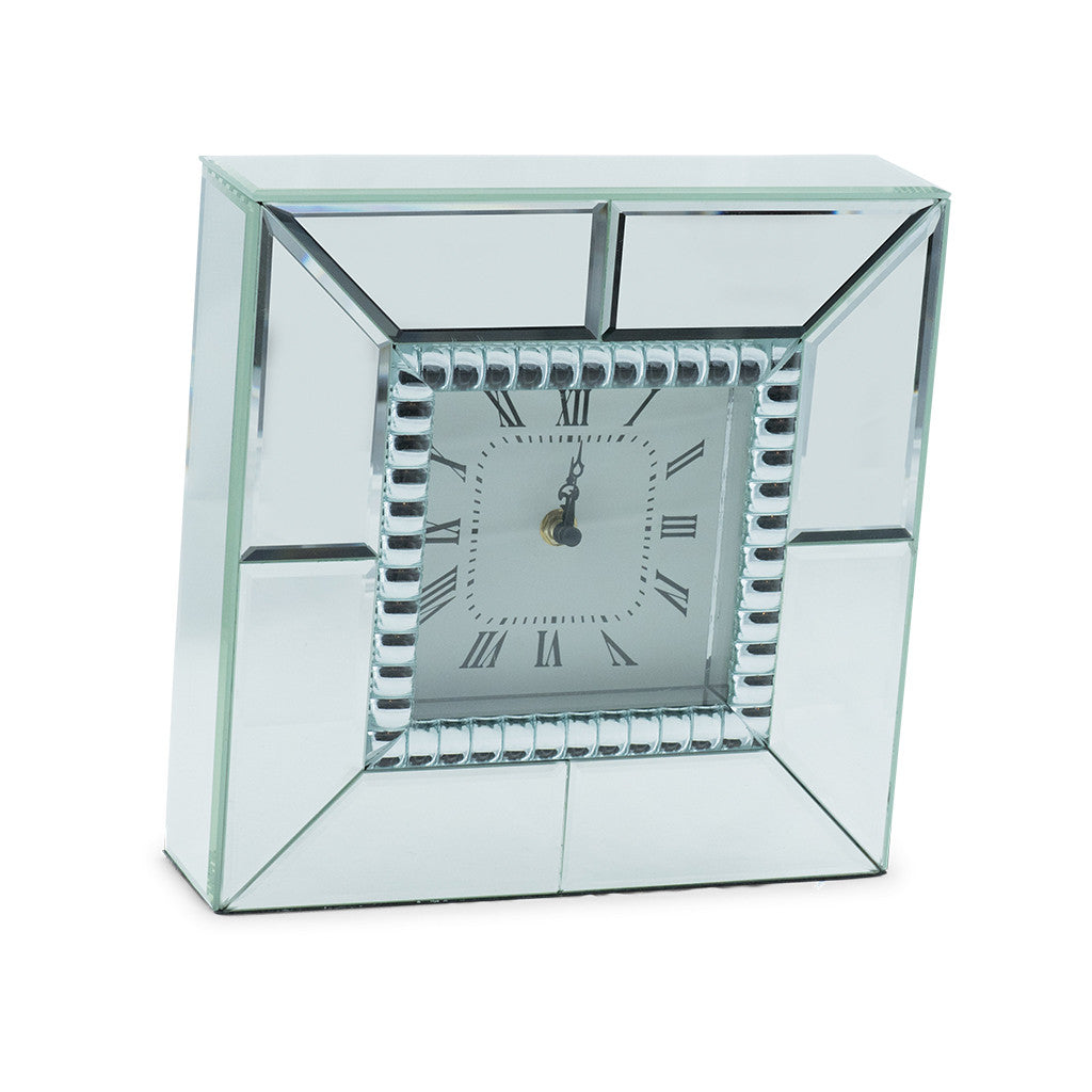 Chriss Mirror Square Table Clock, 25cm - Table Clocks - The Bowery - 3