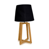 Four Legged Table Lamp Natural With Linen Shade Black 68cm - Table Lamp - The Bowery