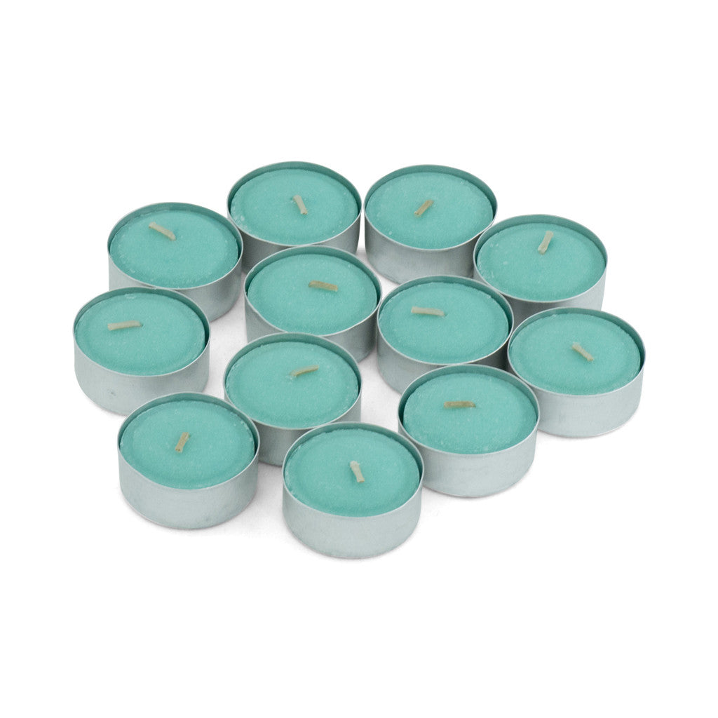 Gooseberry & Peach Scented Tea Light Candles, Pack of 12 - Wax Candles - The Bowery - 1