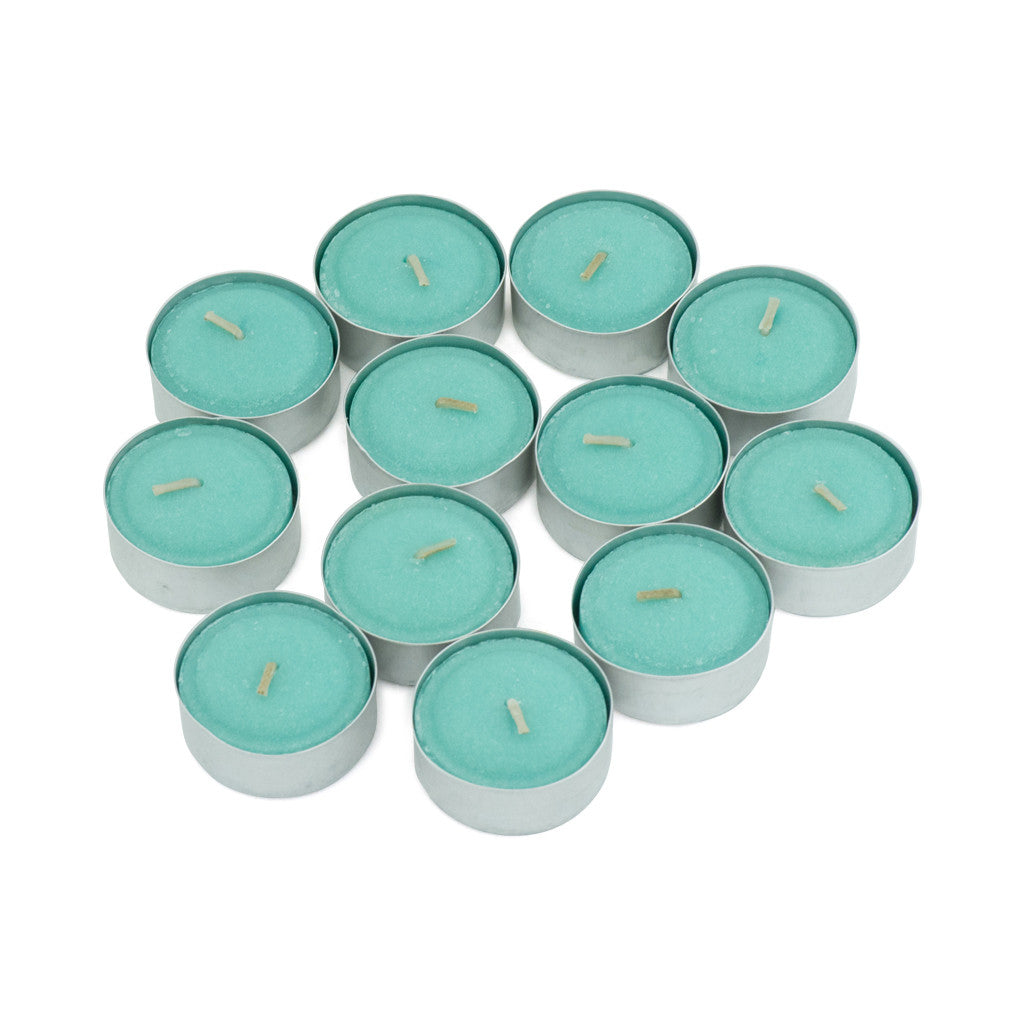 Gooseberry & Peach Scented Tea Light Candles, Pack of 12 - Wax Candles - The Bowery - 2