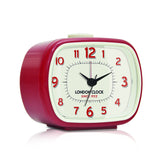 London Clock Company 'GEO' Alarm Clock, Red 8.5cm x 10.5cm x 5.5cm - Alarm Clocks - The Bowery