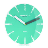 London Clock Company 'Ignite' Letter Wall Clock Teal, 30cm x 3.5cm - Wall Clocks - The Bowery