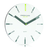 London Clock Company 'Ignite' Letter Wall Clock White, 30cm x 3.5cm - Wall Clocks - The Bowery