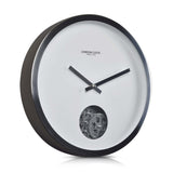 London Clock Company 'Revolution' Wall Clock, Silver, 40cm x 6cm - Wall Clocks - The Bowery