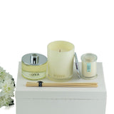 Lotus Flower Scented Large Soy Wax Candle & Diffuser Gift Box , 30 cm x 21 cm x 11 cm - Soy Wax Candles - The Bowery - 1