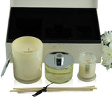 Lotus Flower Scented Large Soy Wax Candle & Diffuser Gift Box , 30 cm x 21 cm x 11 cm - Soy Wax Candles - The Bowery - 4
