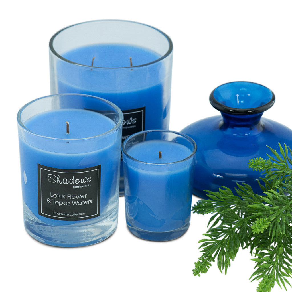 2-Wick Jar Lotus Flower & Topaz Water Scented Candle - Wax Candles - The Bowery - 4